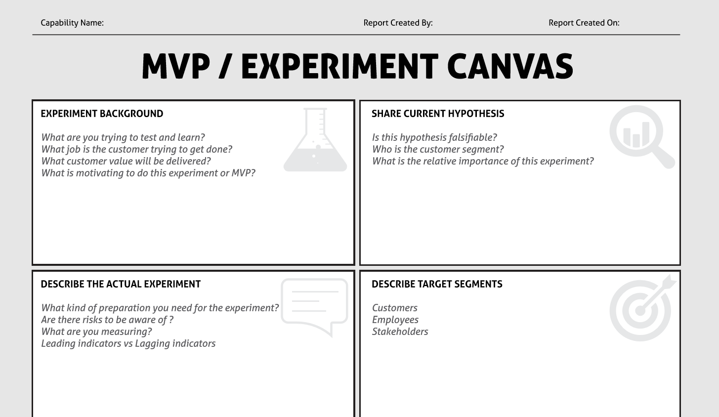 The MVP Experiment Canvas