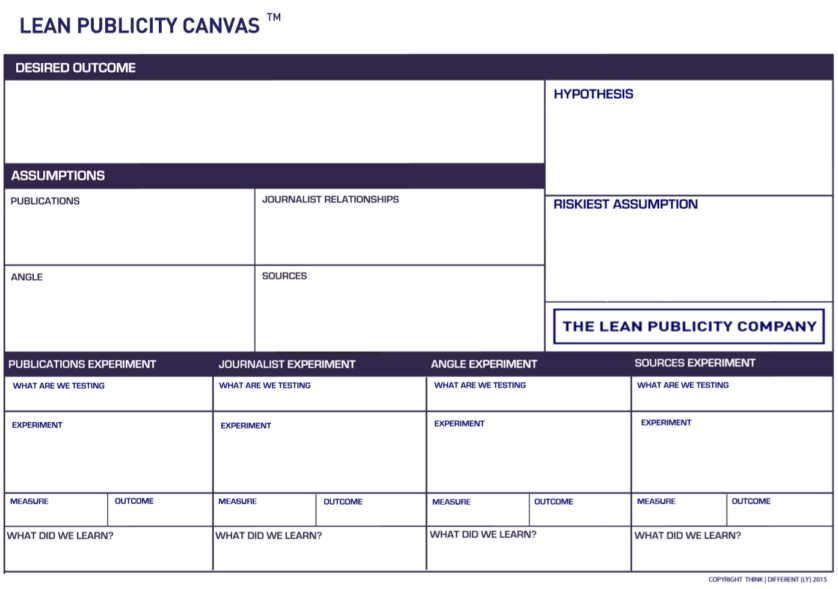 lean publicity canvas